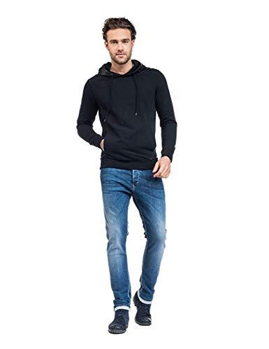 Jeans110828 Uomo Salsa Da Jeans Nero Maglia 6Tqq7S