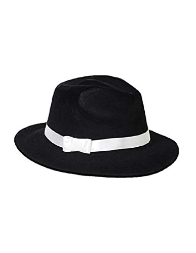 Forum Novelties - Gangster Hat Black Flocked - One Size ()