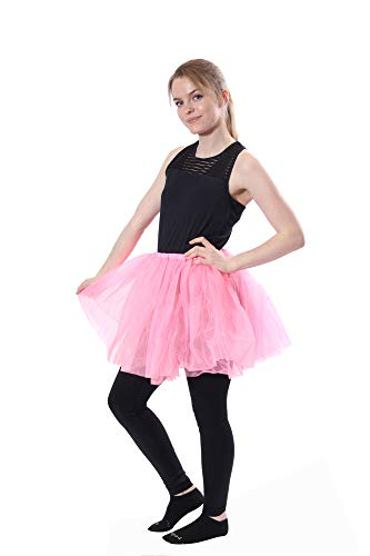 Classic Layered Princess Tutu for Holiday Costumes, Fun Runs, and Everyday Wear Over Leggings Hot Pink ()