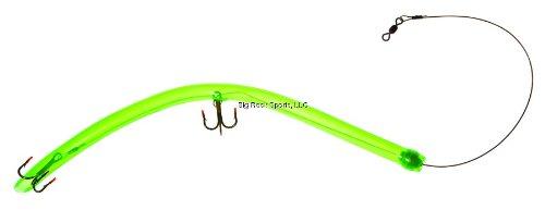 Hookup 20-001 Barracuda Tube Lure, 12-Inch Tube, Green w/2 Treble Hooks