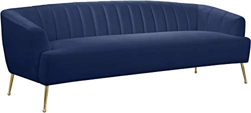 Meridian Furniture Tori Collection Modern | Contemporary Velvet Upholstered Sofa