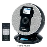 Jensen JIMS-195-BK Docking Digital Music System/Alarm Clock for iPod and MP3 Players (Alarm Clock Ipod Shuffle)