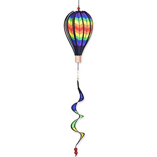 Premier Kites 12 in. Hot Air Balloon - Double Rainbow Chevron