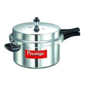 Prestige Popular Plus Induction Base Pressure Cooker, 7.5 Litres, Silver