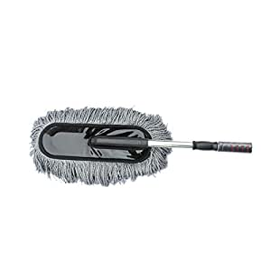Car Home Duster, Telescopic Vehicle Wax Drag, Car Cleaner Cleaning Kit Dusters, Nano Fiber Car Wash Brush Mop with Retractable Handle for Car Bike RV Boats Home Use