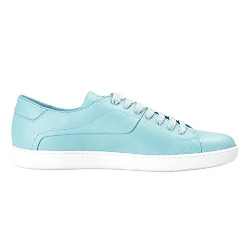 Prada Heren Blauw Leer Mode Sneakers Schoenen Us 10 It 9 Eu 43