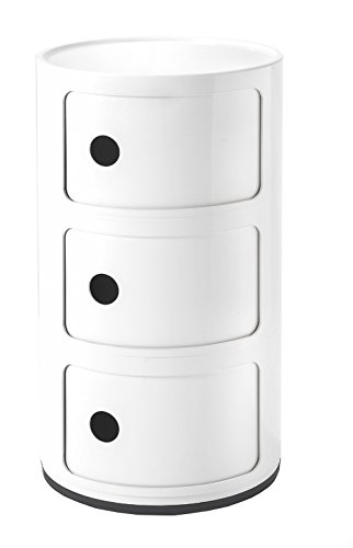 Kartell Componibili Drawer, Pack of 1, White by Kartell