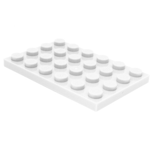 lego building plate white - 4