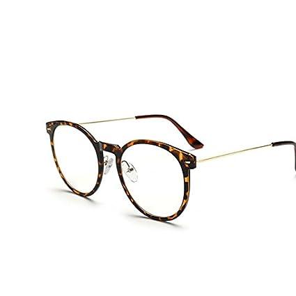 Tocoss (TM) haute qualité Lunettes de soleil Homme Femme ronde en métal Cadre Lunettes de soleil Male femelle Transparent Miroir Eyewear Marque Designer vœux, Half Black