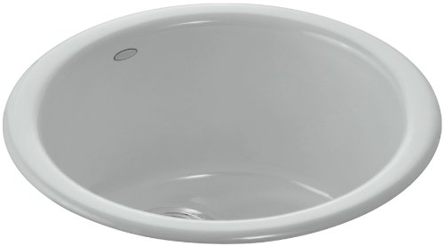 Kohler K-6565-95 Porto Fino Self-Rimming/ Undercounter Entertainment Sink, Ice Grey