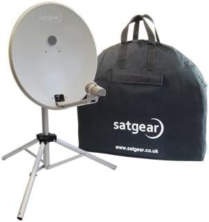 Satgear - Sistema satélite portátil con antena parabólica de 54 cm, color blanco [Importado de Reino Unido]