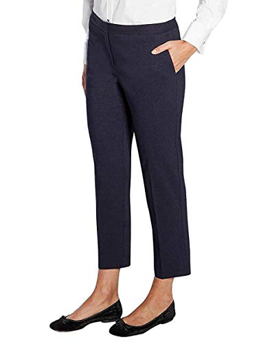 Mario Serrani Ladies' Jacquard Comfort Stretch Fabric Tummy Control Pant (Variety SZ) (Navy Black, 14x27) ()