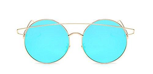 Glacier cercle métallique lunettes Lennon vintage soleil rond inspirées de Bleu style polarisées du retro en CqCS6P