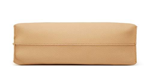 Women's Soft Faux Leather Tote Shoulder Bag from Dreubea, Big Capacity Tassel Handbag