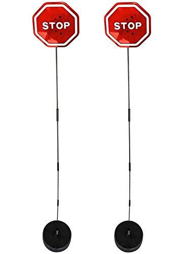 Walter Drake Flashing LED Stop Sign Garage Parking Assistant System (2 Pack) (2 Parking Signs)