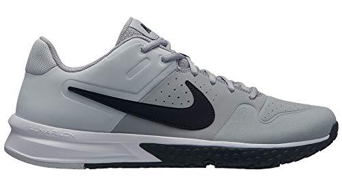 - Nike Mens Alpha Huarache Varsity Turf Baseball Cleats (10.5, Grey/Black)