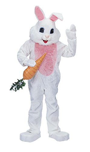 Scary Easter Bunny Costumes (UHC Easter Bunny Rabbit Premium Mascot Funny Comical Theme Party Costume, OS)