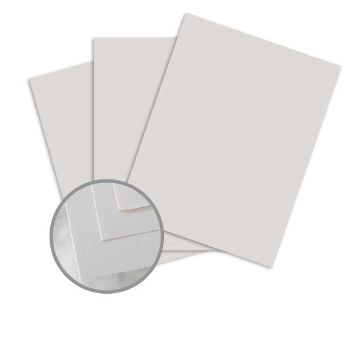 Via Smooth Light Gray Card Stock - 8 1/2 x 11 in 80 lb Cover Smooth 30% Recycled 250 per Package 30% Recycled Light