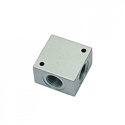 G1//4 mm Parker 3312 00 13 Anodized Manifold BSPP Aluminum Cross Manifold Female Treated Aluminum
