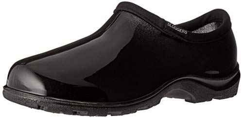 Sloggers Women's Waterproof  Rain and Garden Shoe with Comfort Insole, Classic Black, Size 8, Style 5100BK08 (Renewed) (Waterproof Sloggers Garden)