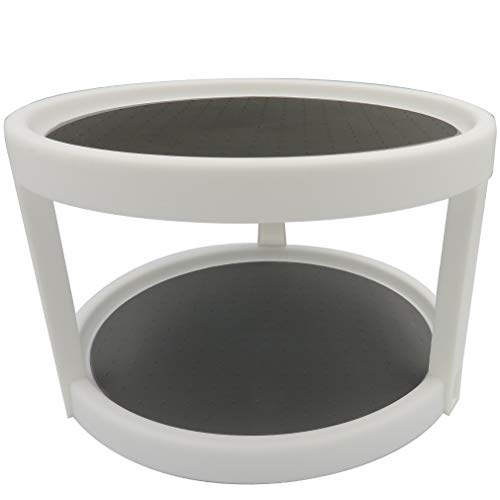 Evelots Lazy Susan-2 Tier-Non Skid-Spinning Turntable-Pantry/Cabinet/Counter