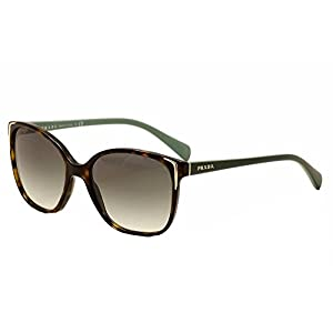 Prada PR 01OS 2AU1E0 Havana Brown Gradient Polarized Sunglasses, 55mm