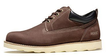 6e932e3185a Jacata Men's Low-Cut Work Boots Water Resistant Boots Natural Rubber Blend  Soles (12, Brown)