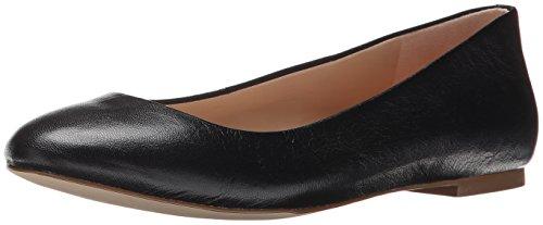 Dr. Scholl's Original Collection Women's Vixen Ballet Flat,Black Leather,US 9 W (Pony Ladies W Footwear)
