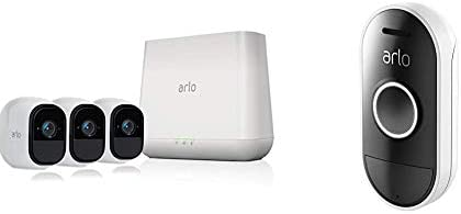 Arlo Pro – Wireless Home Security Camera System with Siren Rechargeable, Night vision, Indoor Outdoor, HD Video, 2-Way Audio, Wall Mount Cloud Storage 1 camera kit VMS4130 w Extra Wall Mount