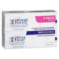 Crest 3D White Brilliance Vibrant Teeth Whitening Toothpaste, Peppermint