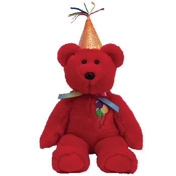 PPY BIRTHDAY the Bear (Red with Hat) ()