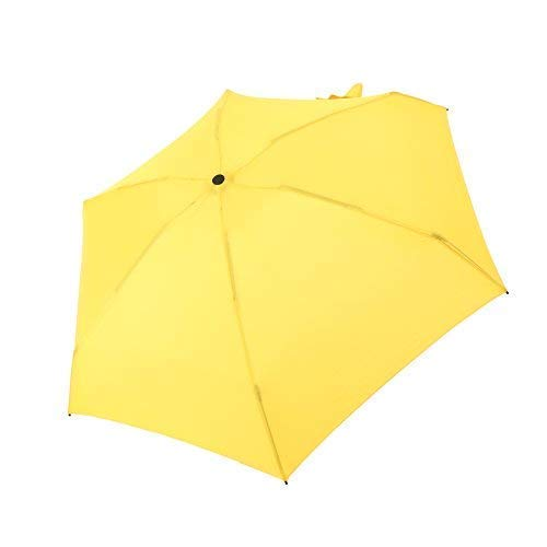 YUI Travel Mini Umbrella Sun&Rain Lightweight Totes Small and Compact Suit for Pocket Yellow by YUI Galleria (Image #3)