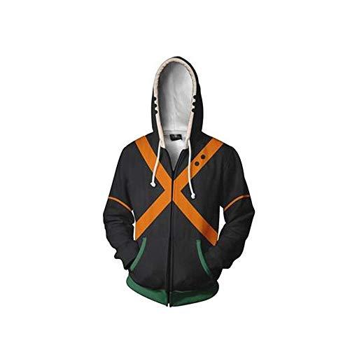 Boku No Hero Academia Ground Zero 3D Print Orange X Cosplay Costume My Hero Academia Unisex Active Sportswear Fleece Zipper Jacket Medium Sweater ()