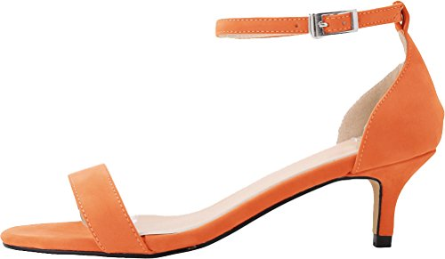 CFP - Zapatos con tacón mujer naranja