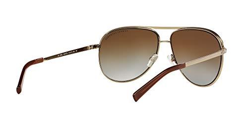 Armani Exchange Metal Unisex Polarized Aviator Sunglasses, Light Gold/Dark Brown, 61 mm by A X Armani Exchange (Image #8)