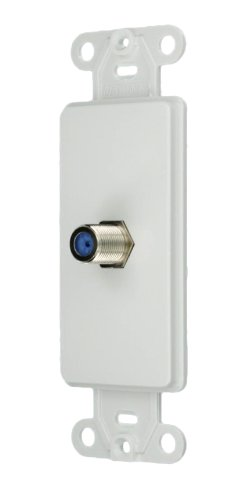 Coax Wall Plate - Leviton 40681-W F Connector Decora Insert, White