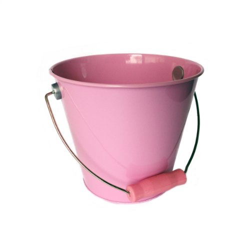 Hampton Art Wrap it Up Tin Pail, Medium, Pastel Pink
