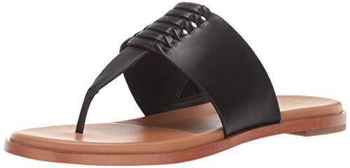 Cole Haan Women's Felix Grand Thong Sandal, Black Leather, 10 B US (Haan Sandals Cole Black)