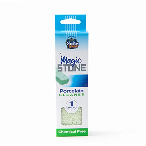Compac's Magic-Stone Porcelain Cleaning Stick - Toilet Bowl Cleaner, Advanced Green Technology, Handy Toilet Cleaner Easily Scrubs/Removes Stubborn Lime Stains from Porcelain or Bathroom Fixtures (1)