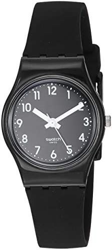 Swatch Women's New Core Quartz Silicone Strap, Black, 12 Casual Watch (Model: LB170E) WeeklyReviewer