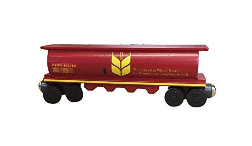 Canada Wheat 2 Cylinder Hopper - Wooden Toy Train by Whittle Shortline Railroad - Manufacturer - Railroad Hopper Car