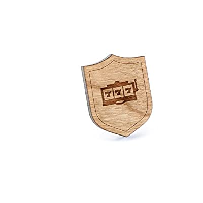 Hot Vegas Slots Lapel Pin, Wooden Pin