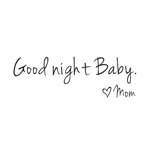 Decorative Wall Sticker Carved English - Good Night Baby - Pattern Creative Stickers Wall/Waterproof/Removable/Self-Adhesive Wall Window Decoration, Vinyl Decal Background Sticker