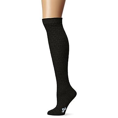 Wigwam Women's Lilly Knee High Classic Merino Wool Boot Socks, Black, Medium