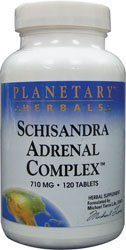 hisandra Adrenal Complex 710mg With Yam Rhizome, Poria Sclerotium & More - 120 Tablets (Complex Herbal Formula Supplement)