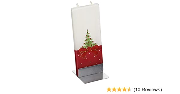Elegant Holiday Decor ... Flatyz Handmade Twin Wick Unscented Thin Flat Candle