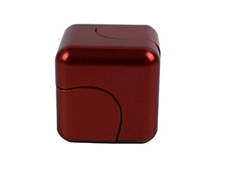 Price comparison product image Capital Wireless Aluminum Square Box SpinCube Dice Focus EDC ADHD Toy US Seller (Red)