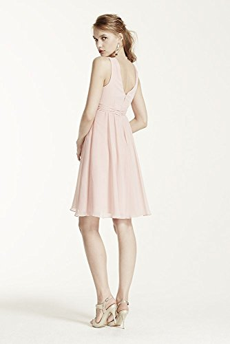 Chiffon F15600 Bridesmaid Style Petal Short Crinkle Dress Bridal David's Halter C8qtwPq