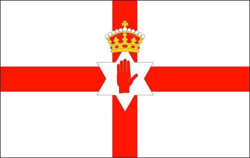American Vinyl Northern Ireland Flag Bumper Sticker (Country Government Decal Irish)