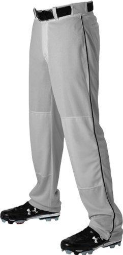 Alleson Athletic 605WLB Erwachsene Baseballhose mit Zopf GR BK – Grau Schwarz AL